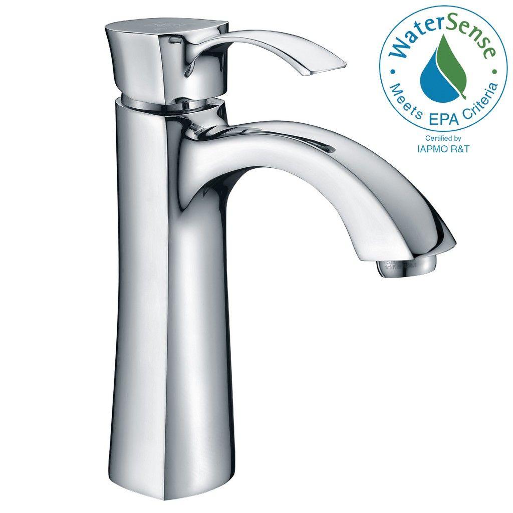 rhythm series single hole single handle mid arc bathroom faucet in polished chrome anzii l az013