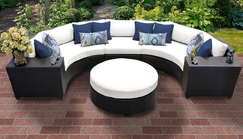 barbados 6 piece outdoor wicker patio furniture set 06c in sail white tk classics barbados 06c white