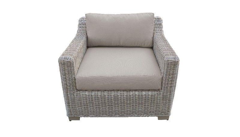 coast 2 piece outdoor wicker patio furniture set 02b in beige tk classics coast 02b