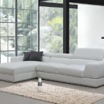 Divani Casa Pella Mini Modern White Leather Sectional Sofa Vig Furniture Vgca5106a Wht