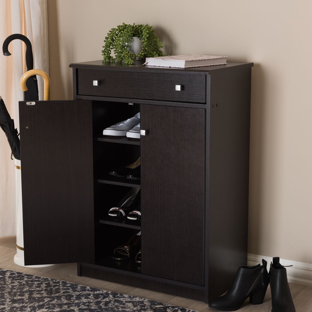 baxton studio dariell modern contemporary wenge brown finished shoe cabinet mh7021 wenge shoe rack