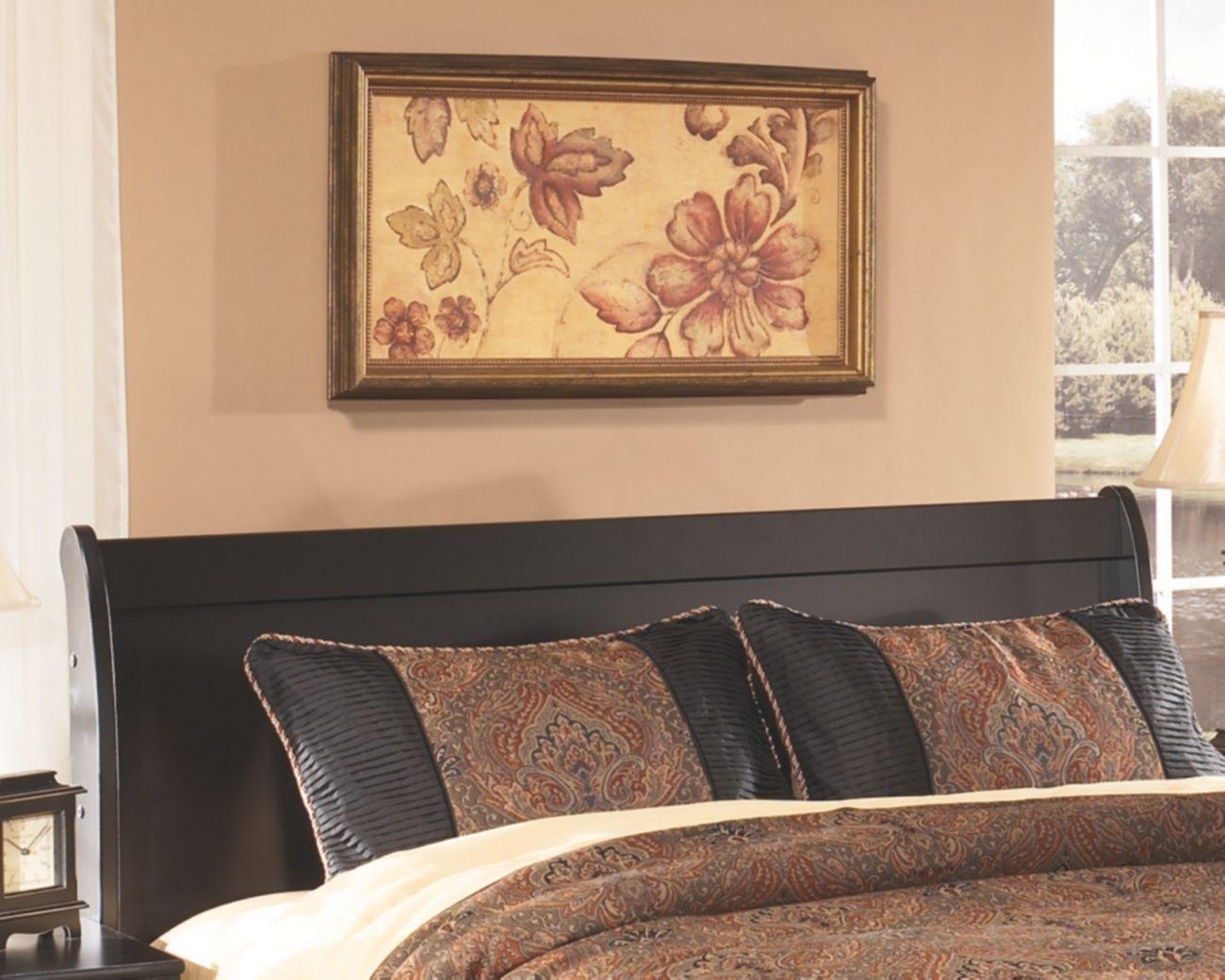 signature design huey vineyard queen sleigh headboard ashley furniture b128 77