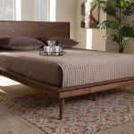 Baxton Studio Karine Mid Century Modern Walnut Brown Finished Wood King Size Platform Bed Mg0004 Ash Walnut King