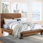 Ocean Queen Size Solid Wood Platform Bed In Natural Sengon Modus 8c79p5