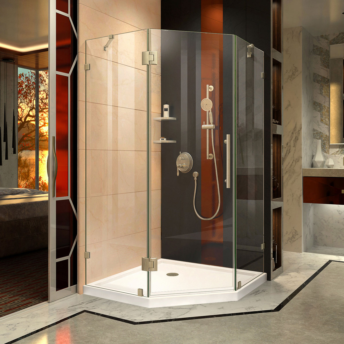 Tubs Anzzi Center Drain Freestanding Bathtub Matte 178
