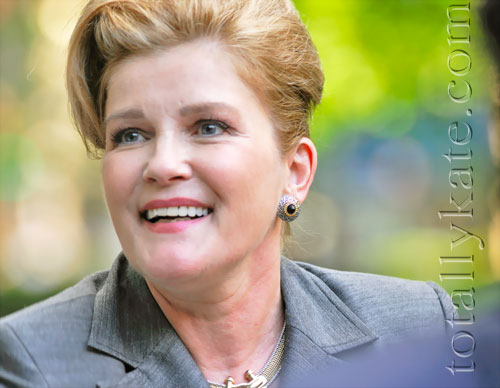 Kate Mulgrew during filming of The Best & The Brightest