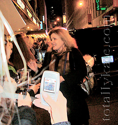 Kate Mulgrew after EQUUS closing performance