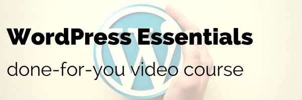 done for you video course wordpress
