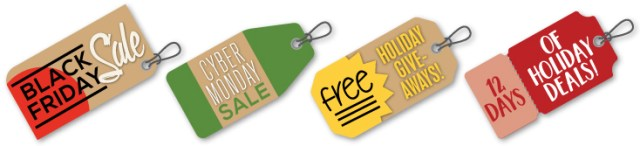 Totally Promotional Holiday Deals and Steals hangtags