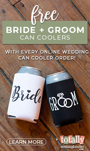Free Bride & Groom Can Coolers