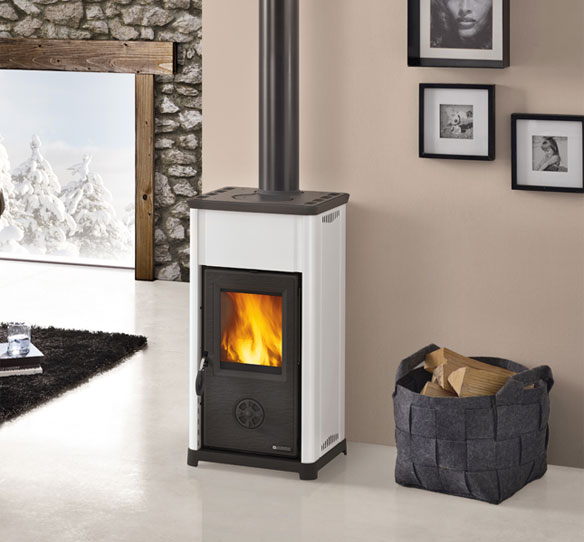 lanordia extraflame totally sustainable wood burner TEA