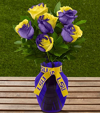 Love these LSU college football team flowers | Totally Tailgates
