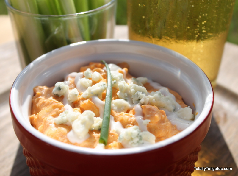 Everyone's game day favorite! This Buffalo Chicken Dip is a touchdown!