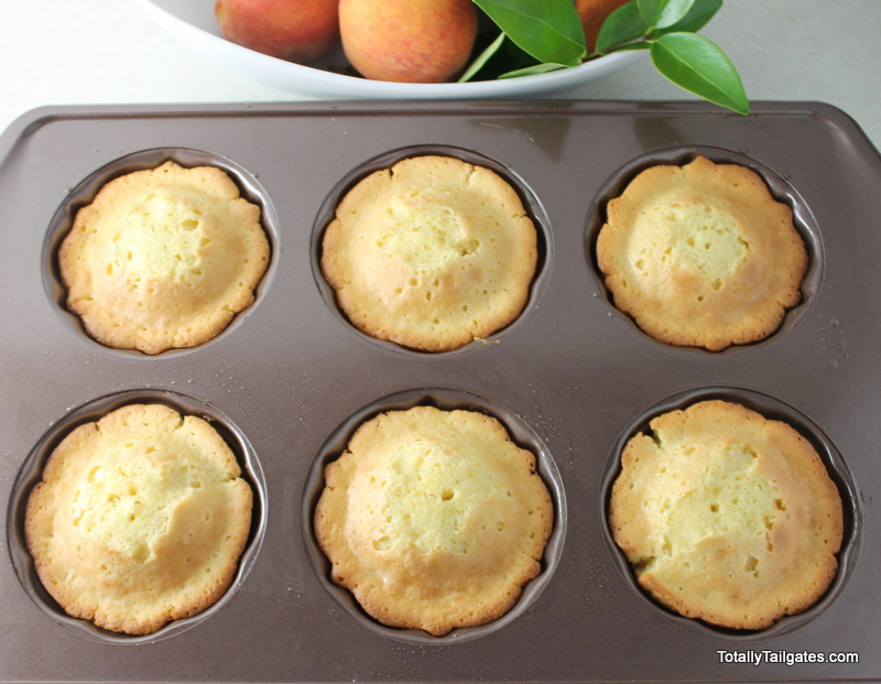 Mini Peach Bundt Cakes