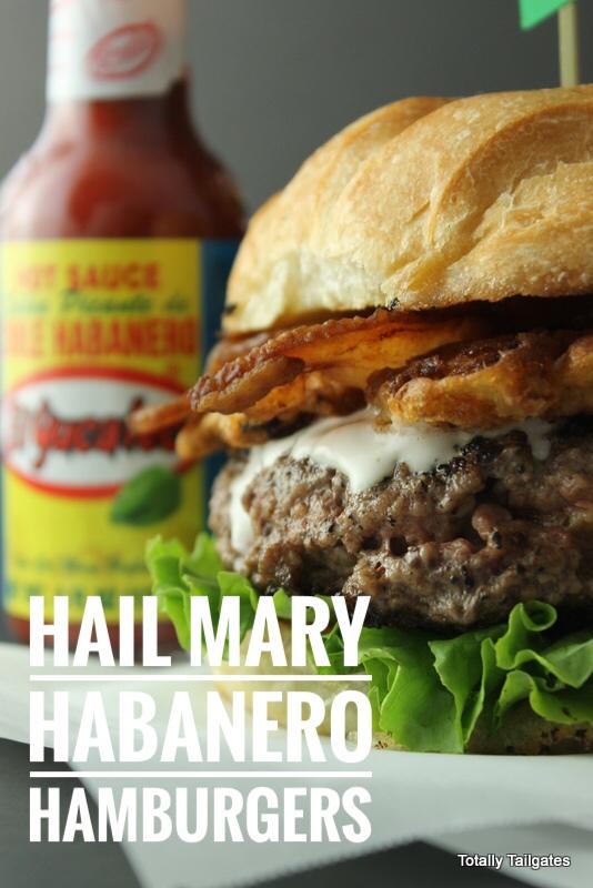 Hail Mary Habanero Hamburgers make football tailgate parties a hit!