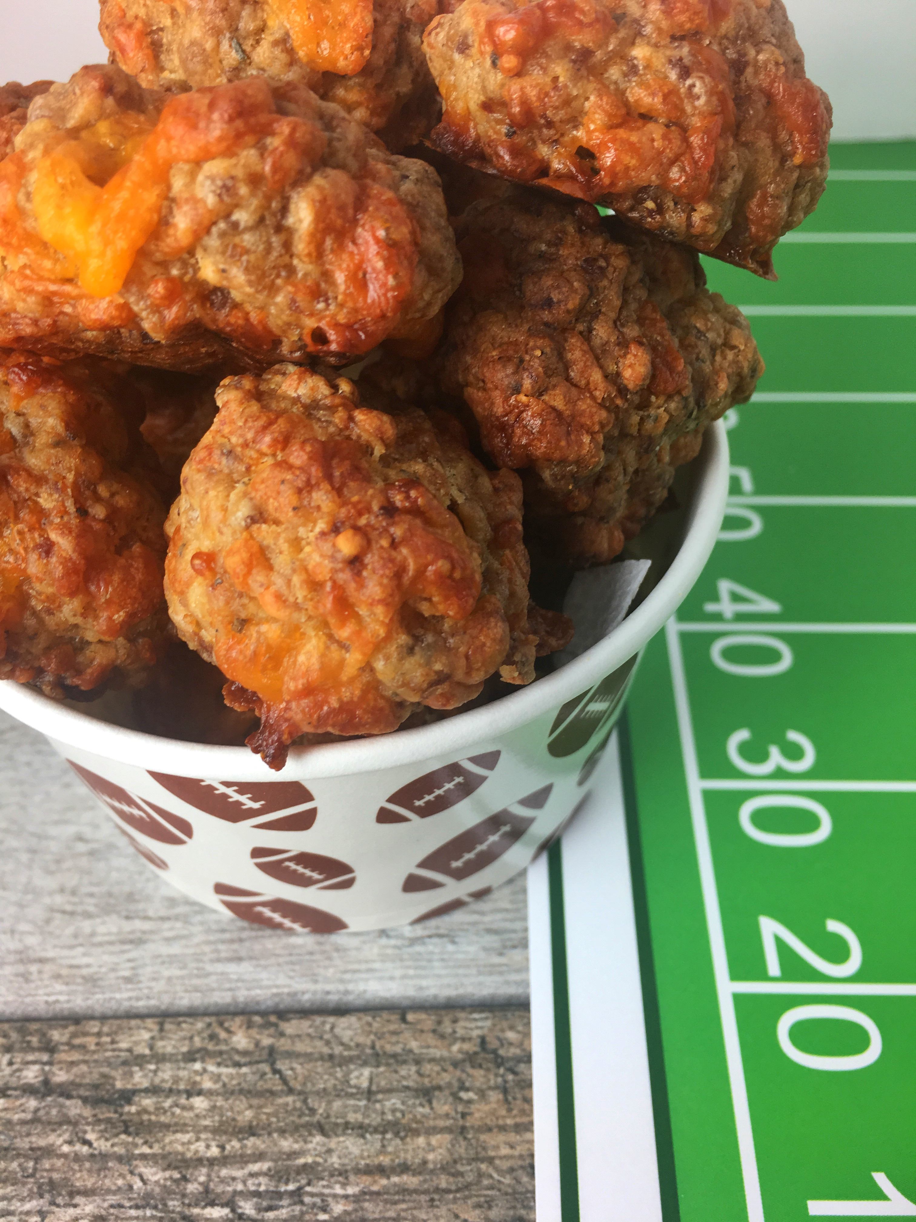 Sideline Sausage Balls for your football game day tailgate party!
