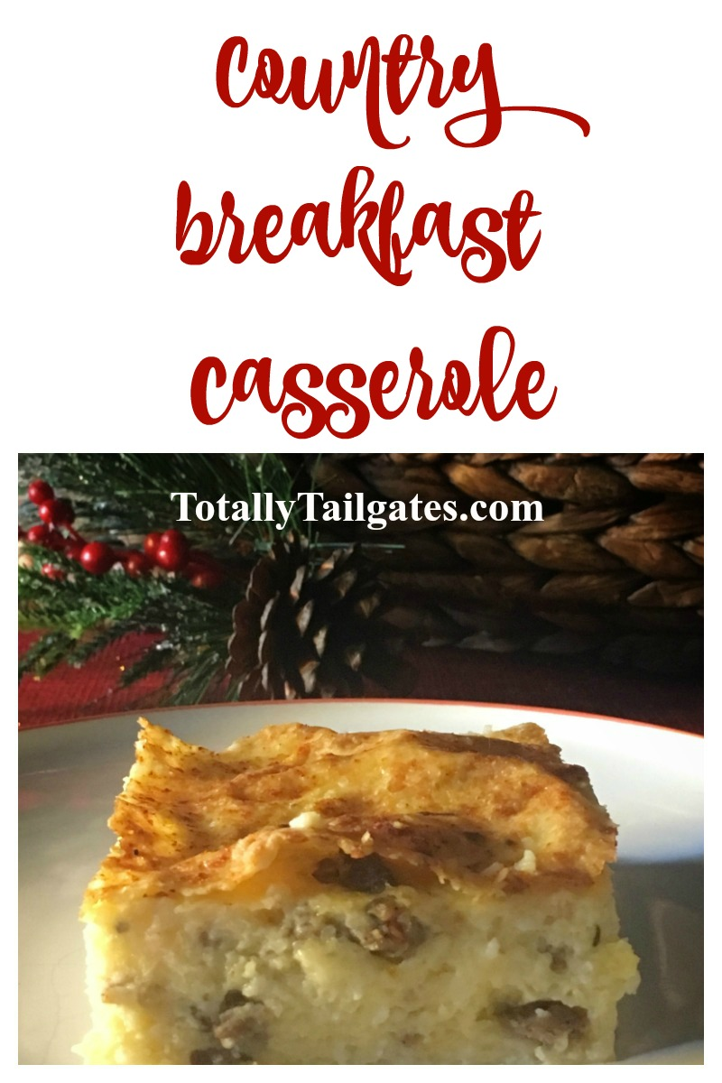 Country Breakfast Casserole is great for Christmas, Thanksgiving and Easter entertaining!