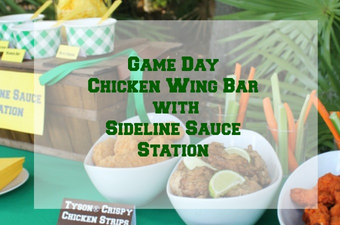 Game Day Chicken Wing Bar with Sideline Sauce Station