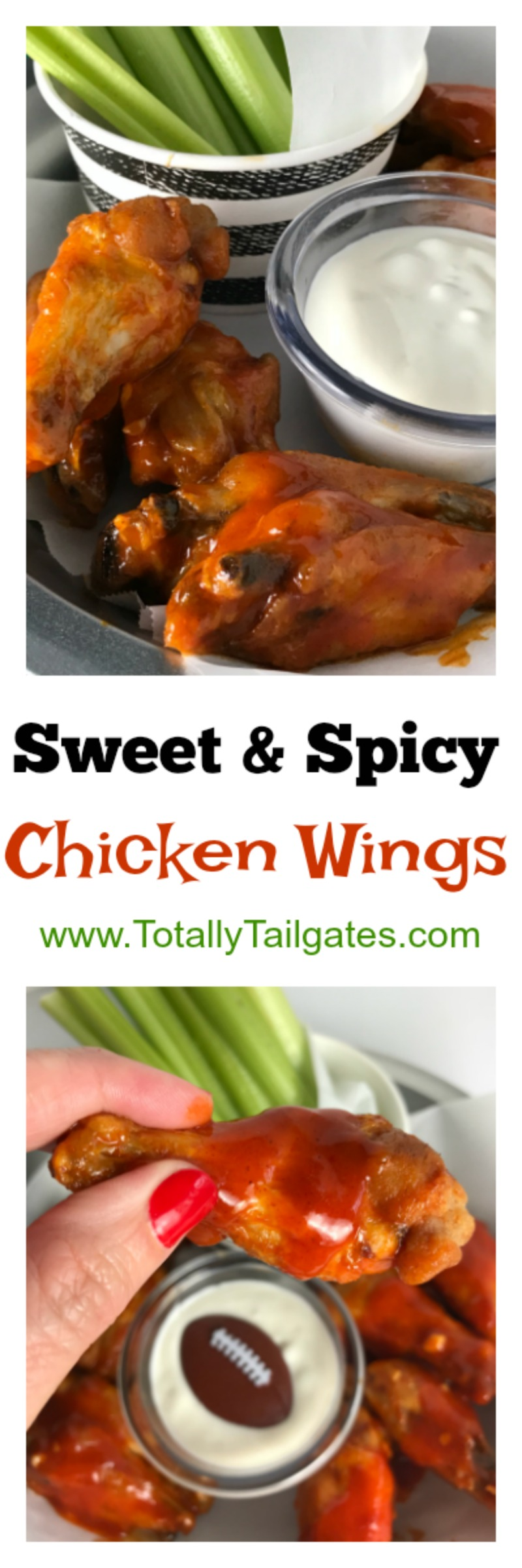 Sweet & Spicy Chicken Wings are always a hit on football game days!