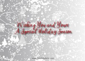 Corporate Holiday Card Back