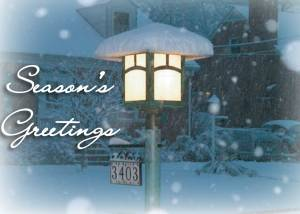 Holiday Lamp Post  Card Front