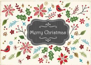 Retro Christmas Card Front