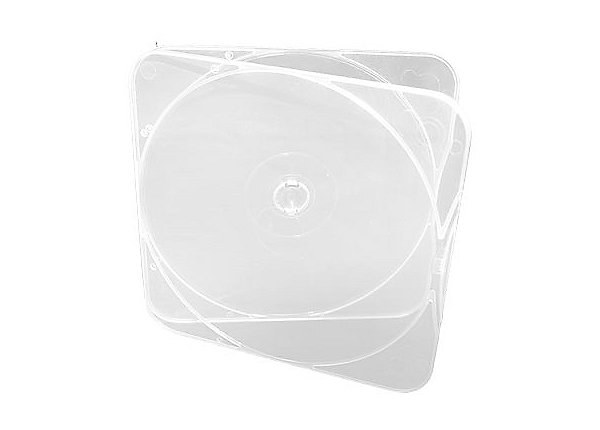 Clear CD Case w/ square lid, thin profile (500 per box)