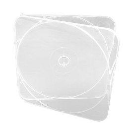 Clear CD Case w/ square lid, thin profile (500 per box)