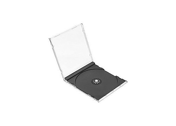 Jewel Case SLIMLINE, Clear/Black (200 per box)