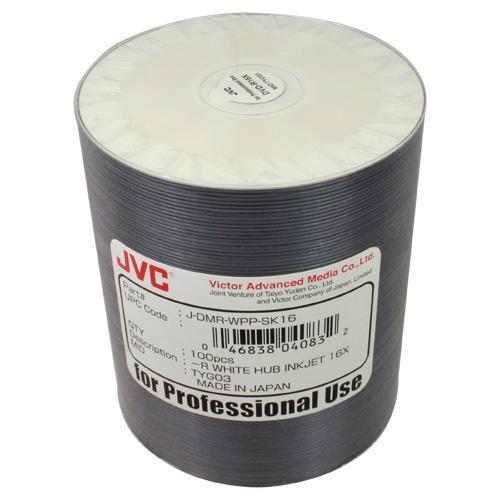 JVC (Taiyo-Yuden) White Hub-Printable Inkjet DVD-R