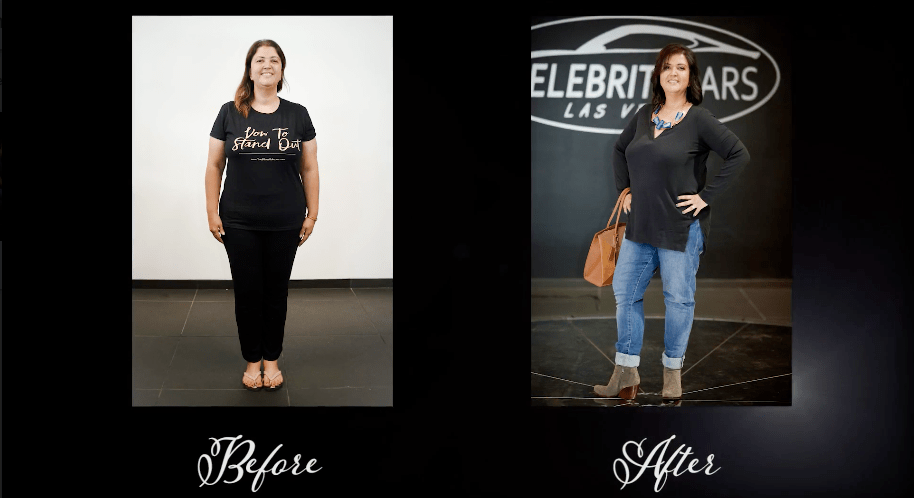Before and After Transformation Mom Monica