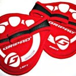 3 Pairs Gripad-weight Lifting & GYM Workout Grip Gloves (Red)