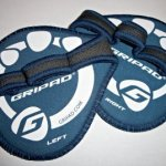 3 Pairs Gripad Workout Grips, Lifting Gloves (Navy Blue)