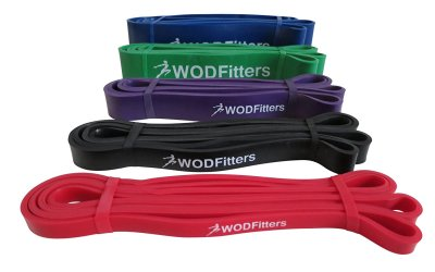 WODFitters Pull Up Assist Band, Stretch Resistance Band – Mobility Band – Powerlifting Bands