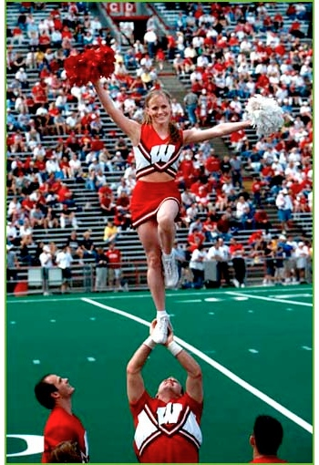 cheerleader stand
