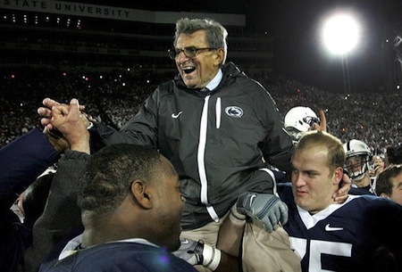 joe paterno disgraced sports heroes