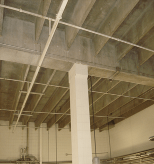 Column and Beam Repairs - Industrial Buildings - Total Restoration Services