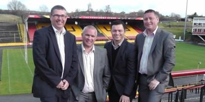 The former Bulls directors. L-R Andrew Calvert, Mark Moore, Robert Hunter-Paul, Ian Watt. ©BradfordBulls