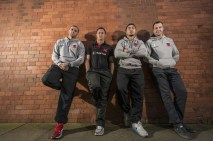 The Red Devils at Salford Lads Club