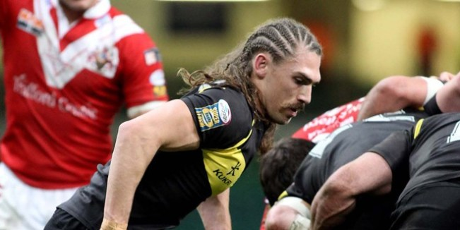 Jarrod Sammut, now at London, in action for Crusaders. ©RLPhotos
