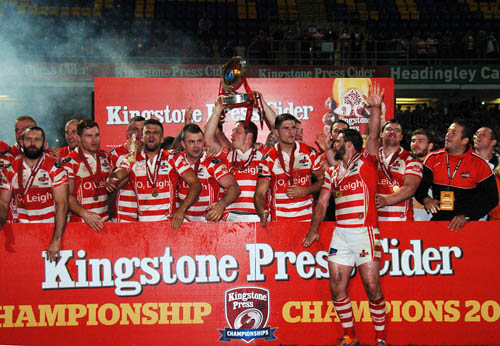 Leigh have won consecutive Championship titles.