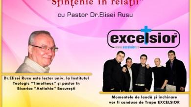 """Photo of Conferința Zonalӑ de Tineret """"Sfințenie ȋn relații"""" cu Pastor Dr. Elisei Rusu, la Ploiești"""