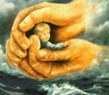 copil in mâna lui Dumnezeu