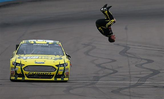 Carl Edwards Flips At Phoenix Total Sports Blog