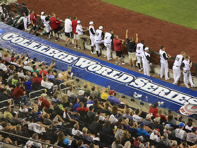 College World Series makes a spelling error.