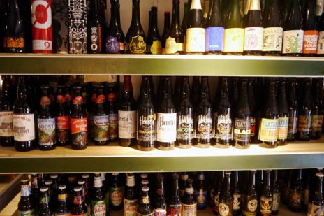 Only a portion of the beer selection at North Italy Ratting Coffee