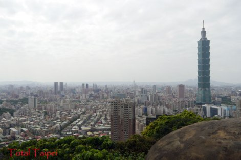 Taipei from the Rock Garden at Xiangshan