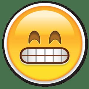 say cheese face