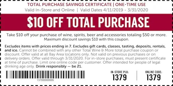 Now Open In The San Francisco Bay Area Total Wine More