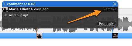Comentarios cronometrados en SoundCloud